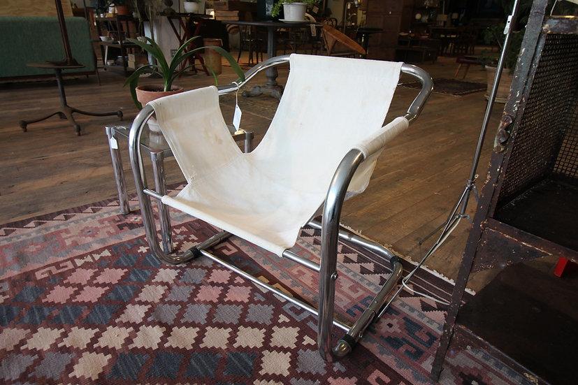 Vintage Chrome Sling Chair