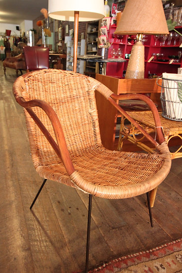 SOLD - Mid-Century Wicker Chairs