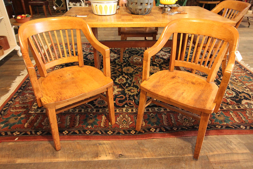 SOLD - Set Four Oak Chairs