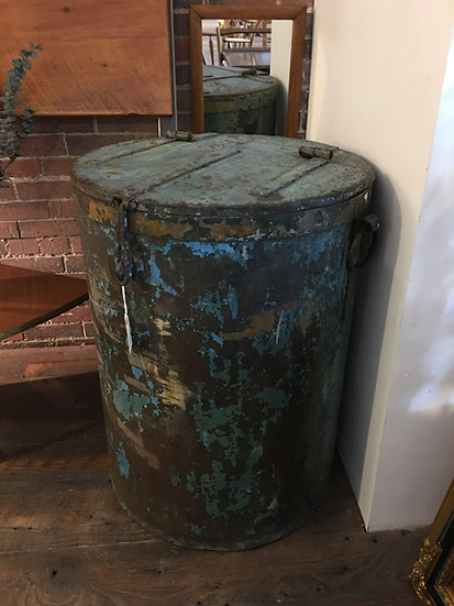SOLD - Industrial Metal Bin