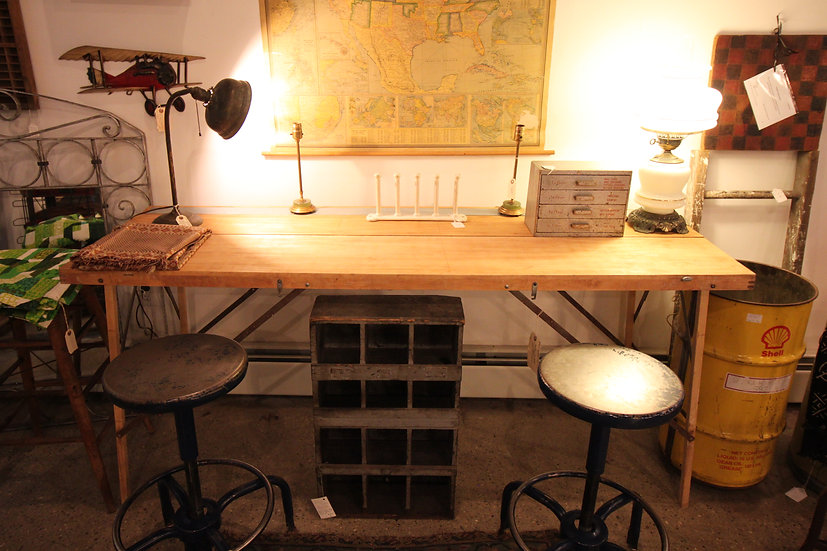 SOLD - Folding Wallpaper Table