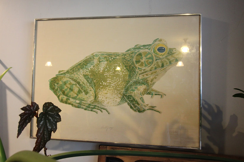 SOLD - Color Lithograph of Bullfrog
