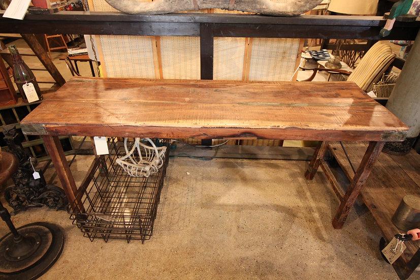 SOLD - Rustic Hardwood Folding Table