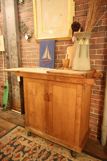 SOLD - Pine Bar/Kitchen Cart