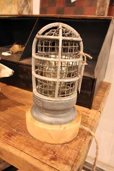 SOLD - Salvaged Cage Lamp