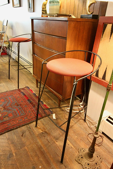 SOLD - Pair Modern Stools