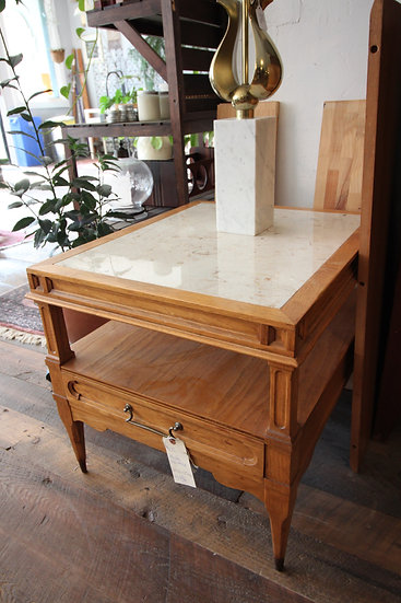 SOLD -Marble Top Side Table