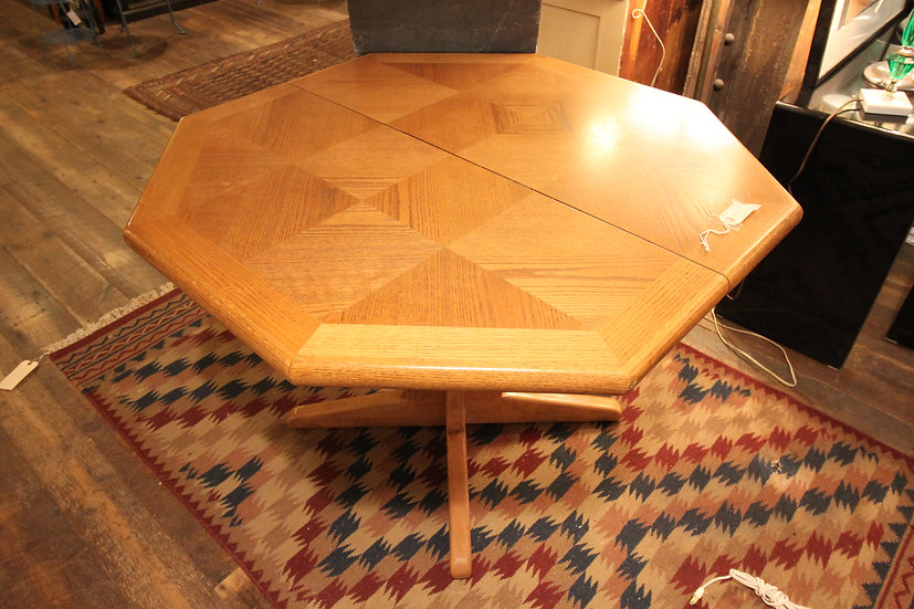 SOLD - Oak Octagonal Dining Table