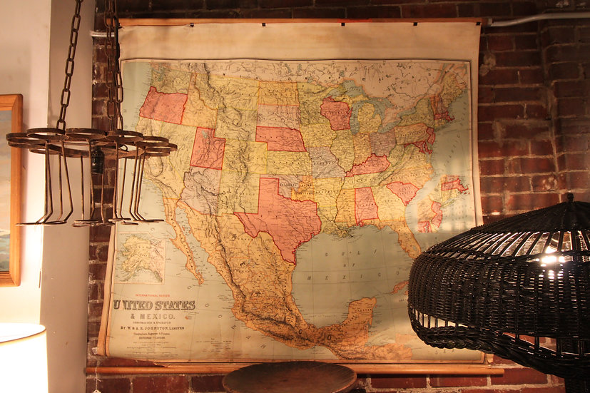 SOLD - Antique Map of US and Mexico