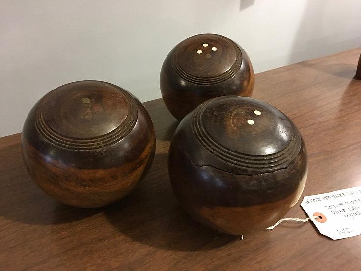 Set3 Lignum Vitae Lawn Bowls