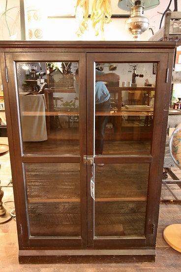 SOLD - Glass Front Bookcases