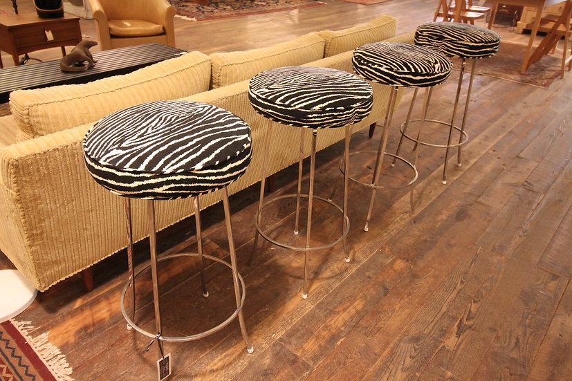 Set Four Modern Bar Stools