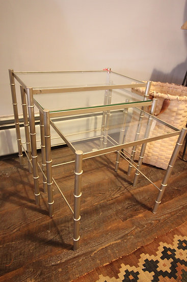 Metal Bamboo Nesting Tables