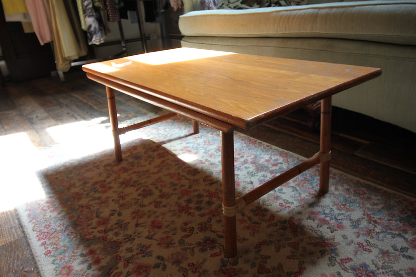 SOLD - Rattan-Style Coffee Table