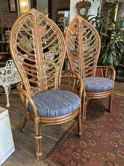Set (4) of Italian Leaf Chairs