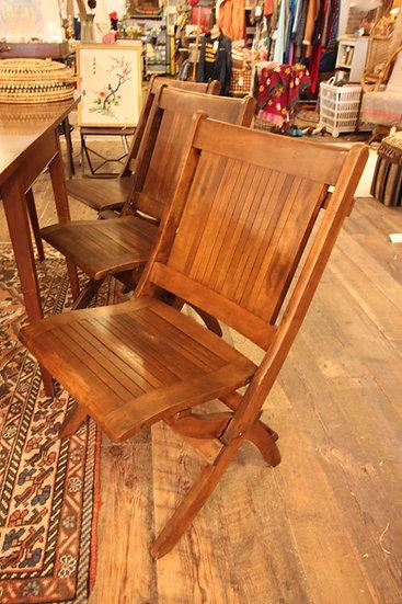 SOLD - Set (6) Grange Folding Chairs