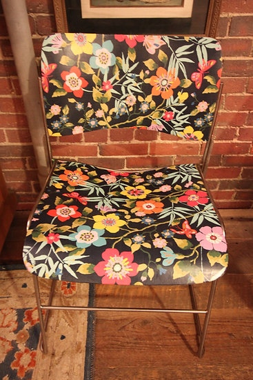 SOLD - Decoupaged David Rowland Chair