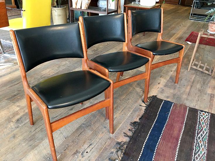 SOLD - Set (3) Danish Modern Chairs