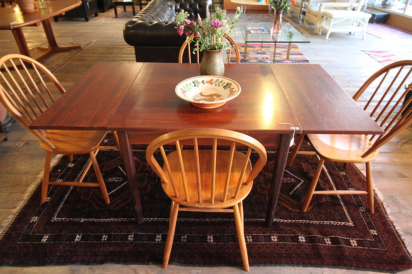 SOLD - Rosewood Draw Leaf Dining Table
