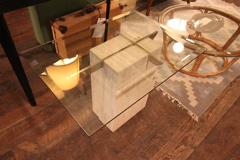 SOLD - Mid-Century Travertine Table