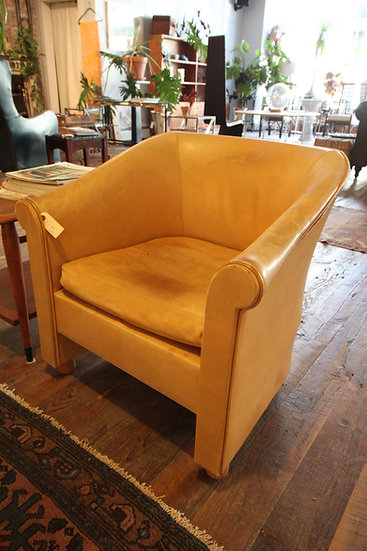 SOLD - Italian Leather Armchair