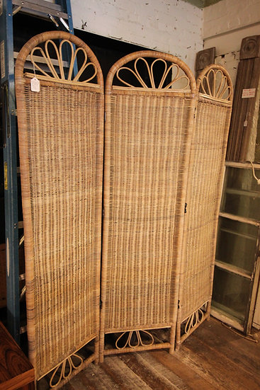 Vintage Rattan Room Divider