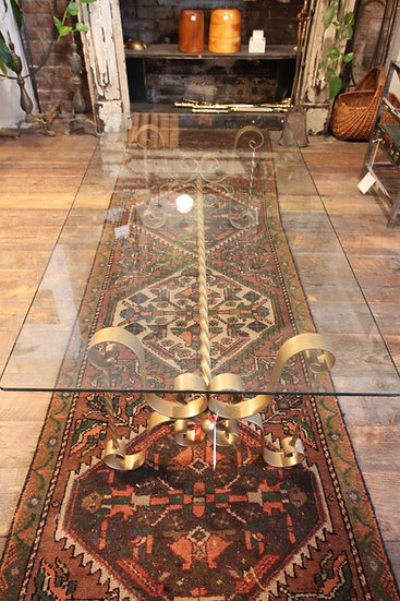 SOLD - Mid-Century Glass & Iron Coffee Table