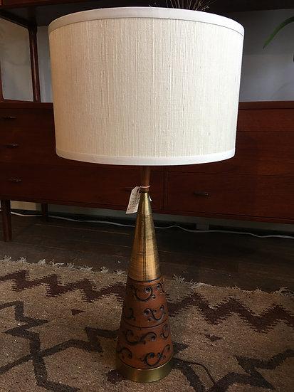 SOLD - Brass & Ceramic Lamp
