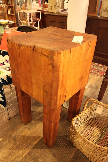 SOLD - Antique Butcher Block