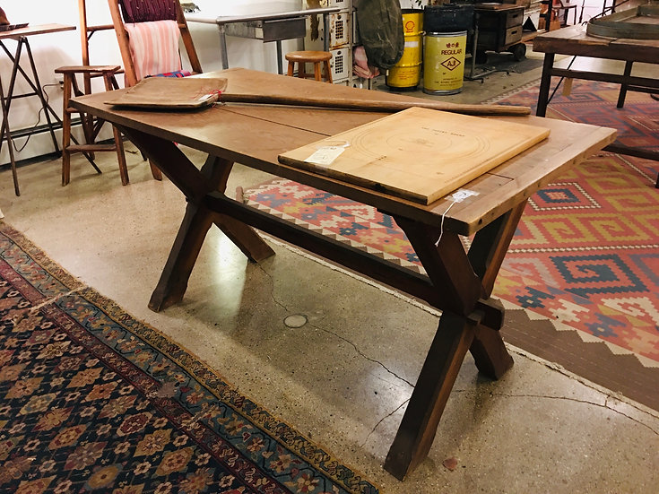 Vintage Sawbuck Table