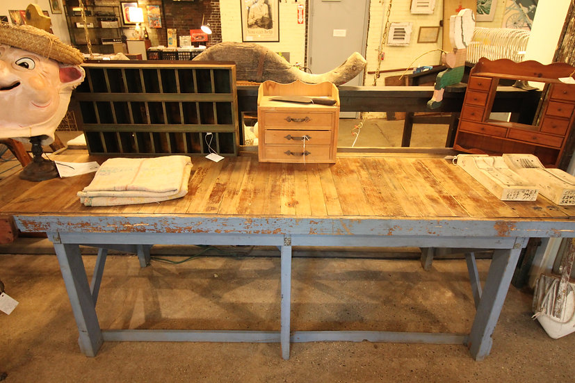 SOLD - Natural Top Slatted Work Bench