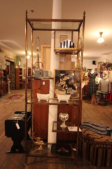 Modern Brass-Plated Shelf