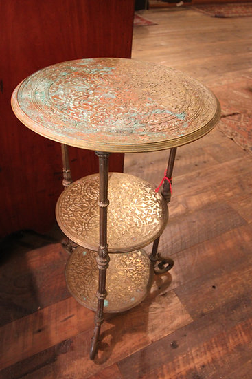 SOLD - Circular Brass Stand