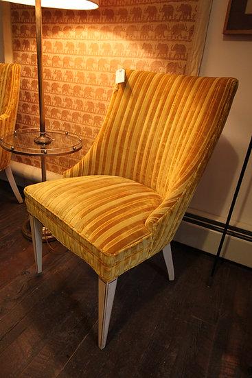 SOLD Striped Velvet Chair