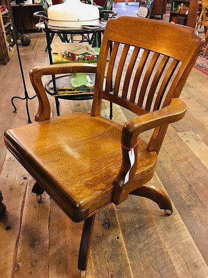 SOLD - Oak Office Chair