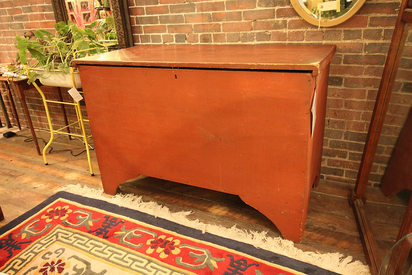 Red Blanket Chest
