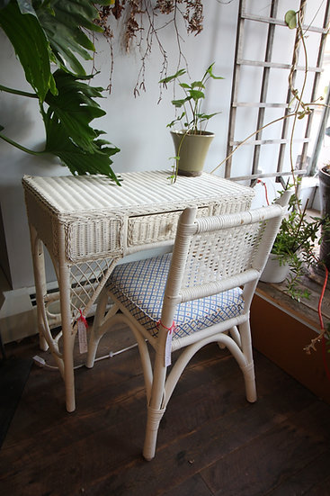 SOLD - Wicker Desk & Chair