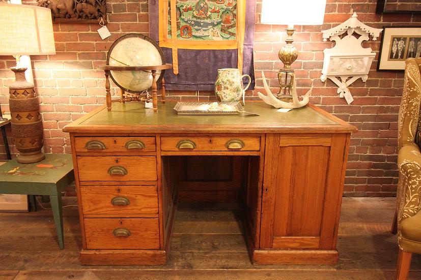 Antique Leather Top Desk