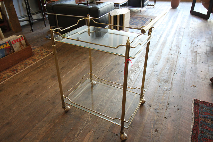 SOLD - Brass Bar cart