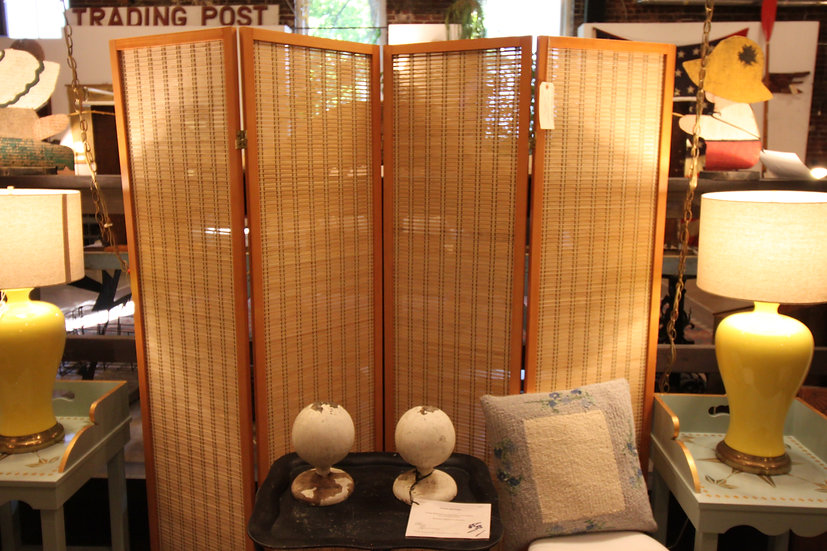 SOLD - Woven Bamboo Screen