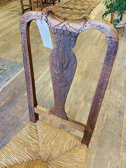 Antique Spanish Brush-Foot Chair