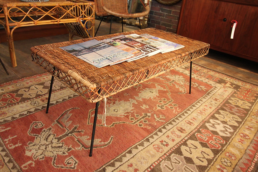 SOLD - Wicker Coffee Table