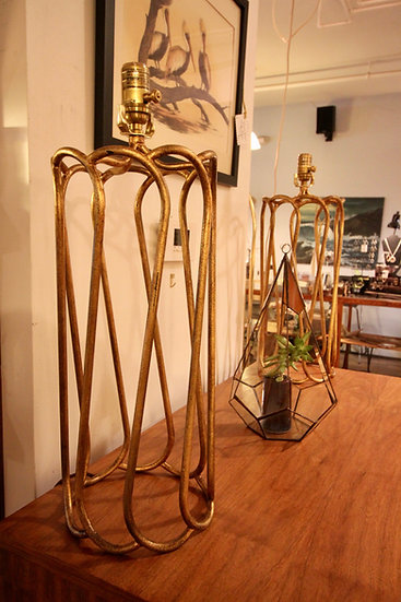 Pair of Modern Helix Lamps
