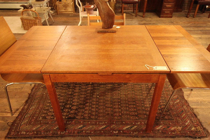SOLD - Danish Modern Draw Leaf Dining Table