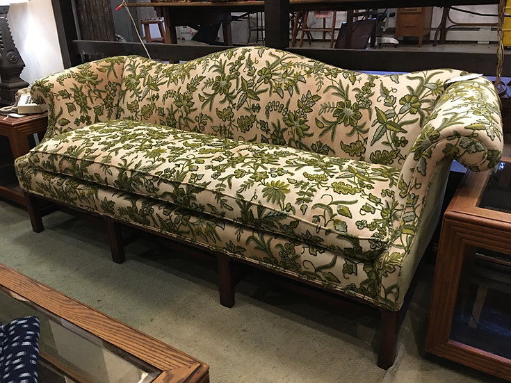 Antique Crewel-Work Sofa