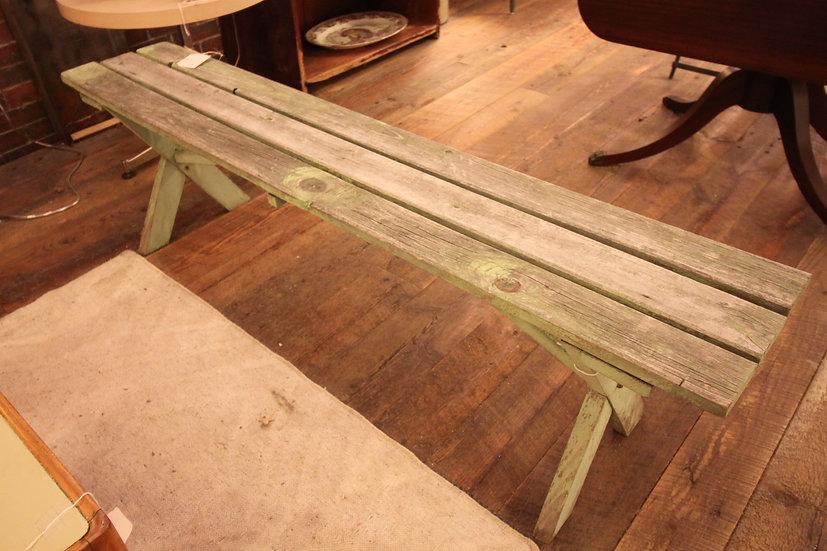 Antique Slatted Bench