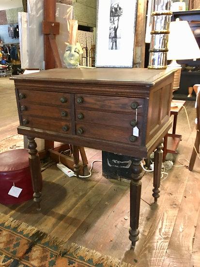 SOLD - Antique Spool Cabinet