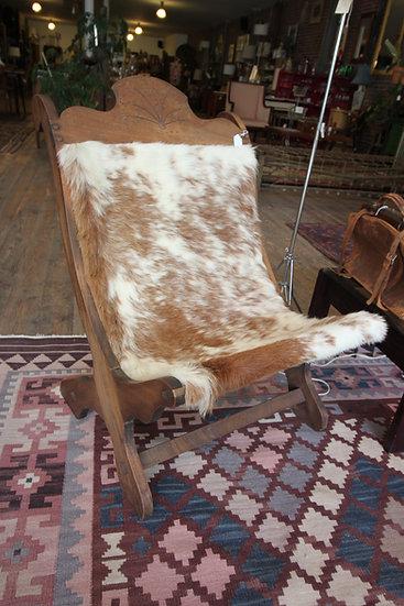 Clara Porcet-Style Cowhide Butaque Chair