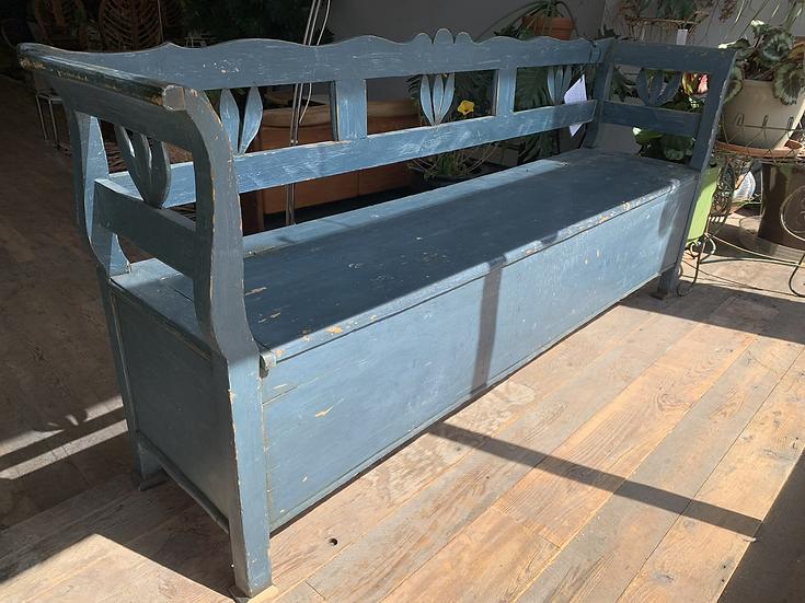 Antique Blue Bench