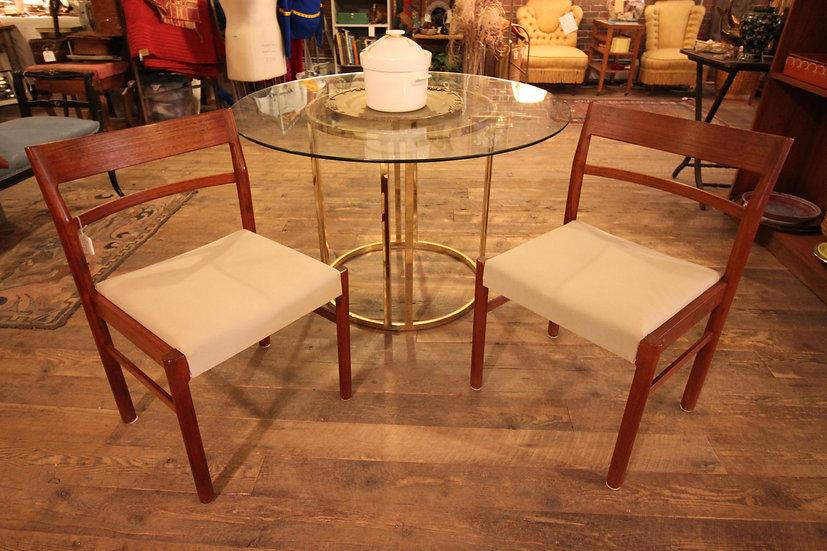 Pair Danish Modern Dining Chairs